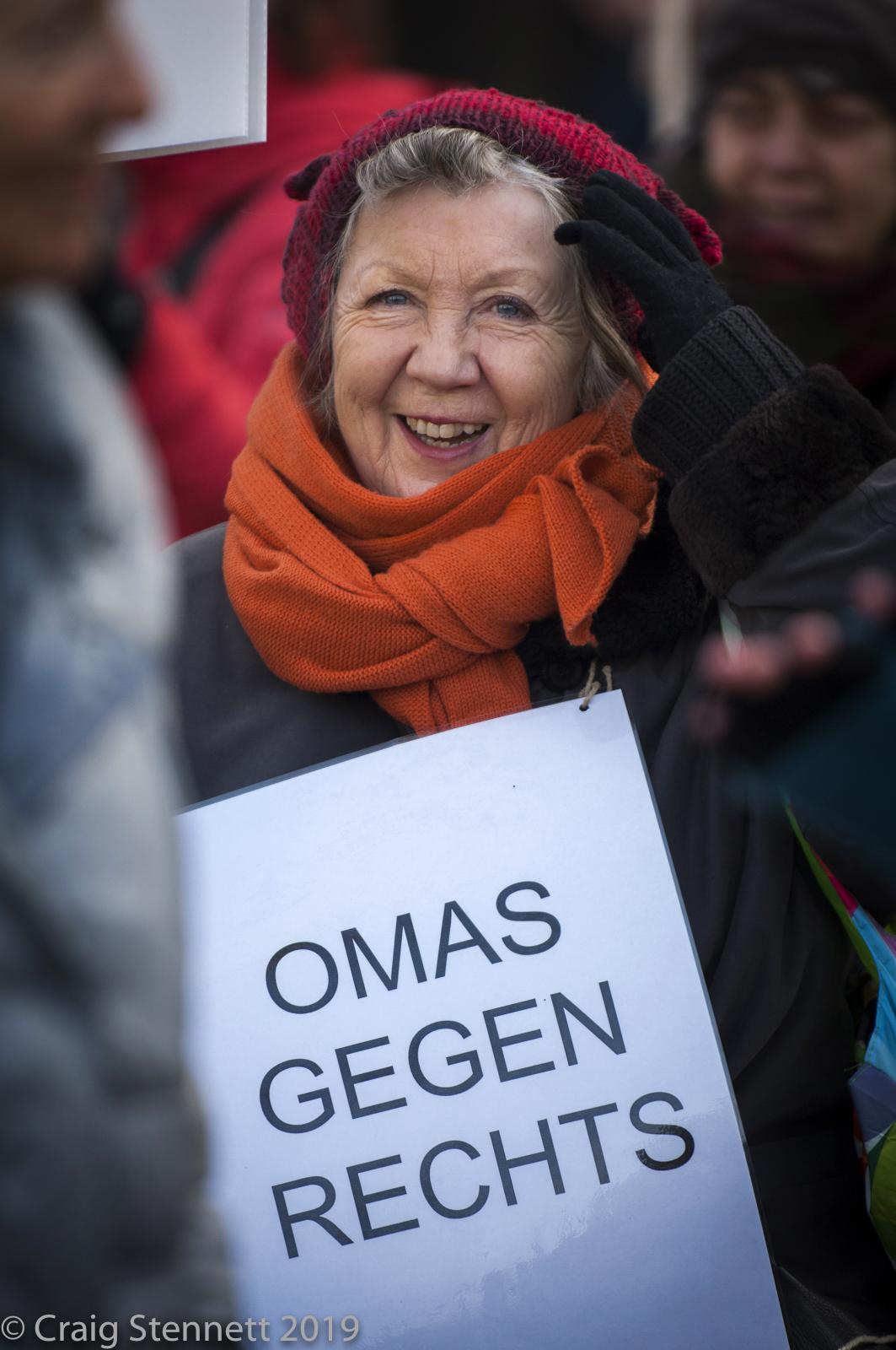 Marion Geisler Omas Gegen Rechts, (Grannies against the Right) Berlin, Germany.
